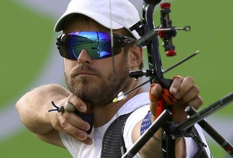 OLYMPICS-RIO-ARCHERY-M-IND Jean-Charles Valladont of France competes in men's…