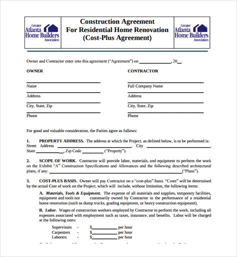 Construction contractors and agents have to go through a lot of - payment plan agreement