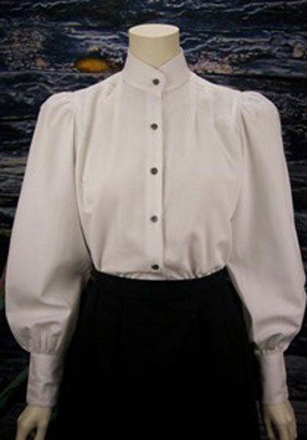 Frontier Classics Victoria Blouse White Ladies Old West Blouses Victorian Fashion Victorian Blouse Clothes