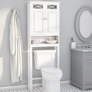 Weslaco Beaded Recessed Framed 1 Door Medicine Cabinet With 3 Adjustable Shelves In 2020 Toilet Storage Bathroom Storage Toilet