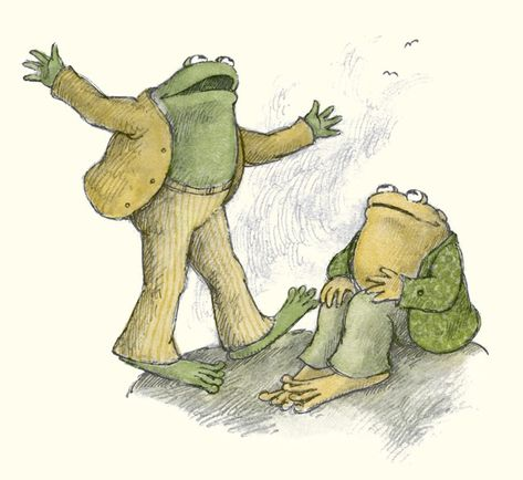 Frog and Toad by Arnold Lobel. Are you familiar with the Frog and Toad children's books? Frosch Illustration, Book Illustration, Arnold Lobel, Fanart, My Father's World, Reading Street, Frog And Toad, Children's Literature, Childhood Memories