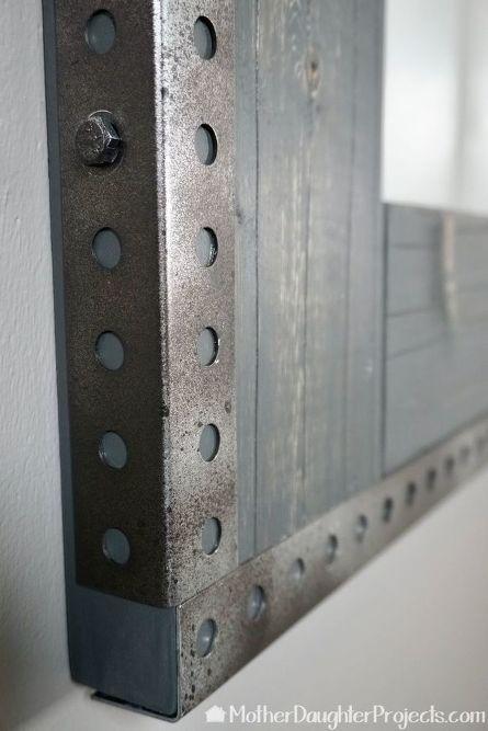 Diy Industrial Metal Mirror Hack Industrial Decor Diy Diy