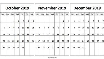 Really Cool Designed October-December 2019 Calendars October November December 2019 Calendar | 2018 Calendar | 3 month