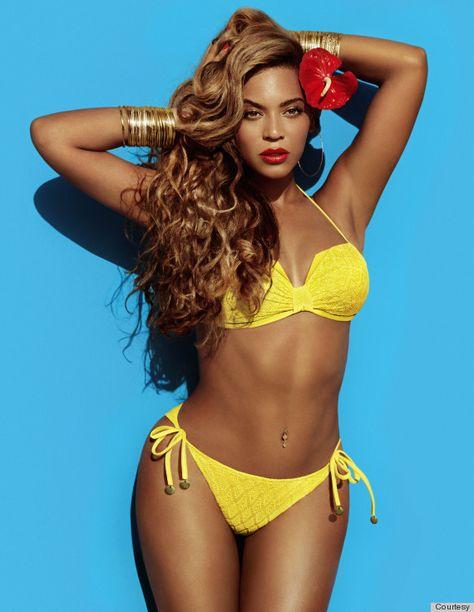 Beyonce knowels yellow bikini