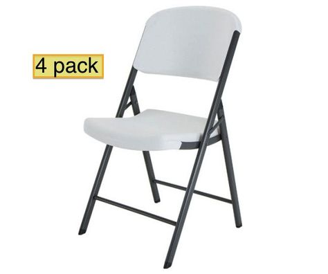 Lifetime Folding Chairs 42804 4 Pack In White Granite Color Con