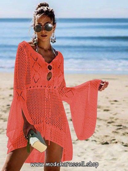 finest selection 24e3b 4e35c Häckel Strand Tunika Kleid in Orangerot | Damenmode 2020 ...