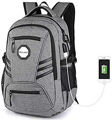 Women Waterproof Laptop Backpack with USB port for Work School Fits Tablet Black