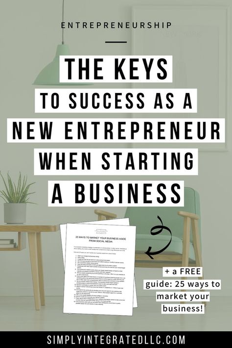 What Every New Entrepreneur Must Know When Starting a Business | Entrepreneurship & Entrepreneur Tips - As a new entrepreneur & beginner, you need to fall back on expert advice in order to see success in your small business. If you're wanting to start a business but don't know where to start, click through to learn what you must know when starting your entrepreneurial journey! Simply Integrated #smallbusinesstips #newbusiness #onlinebusinesstips #businesstips #entrepreneurship