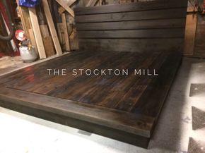 Hardwood Platform Bed King Size Wood Bed Ruby Collection Diy
