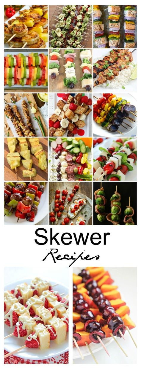 Recipe Ideas| Do you call them Shish Kebabs, Kebobs or Skewers? Well, whatever they are called, they are a summer favorite of mine. I love how colorful Skewers are and the ingredient and flavor combinations are endless. Sharing some Skewer Recipe Ideas from around the web that look absolutely amazing!