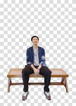 Rm Bts 09 Man Sitting On Bench Transparent Background Png Clipart Man Sitting Transparent Background Bts