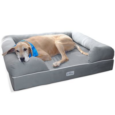 Petfusion Ultimate Jumbo Pet Bed And Lounge In Grey Dog Bed Large Memory Foam Dog Bed Cool Dog Beds