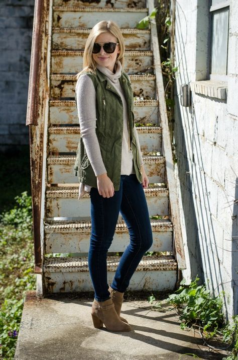 Sweater & Utility Vest (Life with Emily