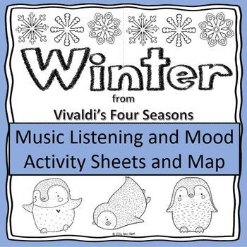 Vivaldi S Winter Music Listening And Mood Activity Sheets And Map