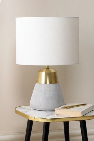 Buy Village At Home Jasper Grey And Gold Table Lamp From The Next Uk Online Shop Grey Table Lamps Gold Table Lamp Lamp