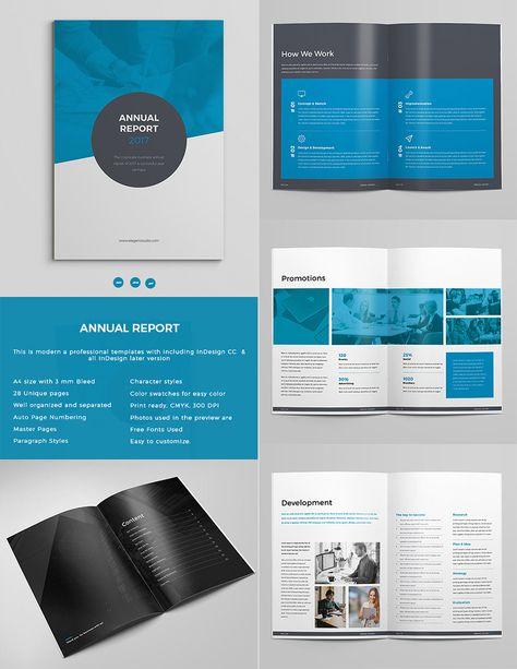Bold Annual Report Template Indesign Design Set Indesign