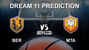 Ber Vs Mta Dream11 Prediction Live Score Basketball Match Lineups Turkish Airlines Euro League In 2020 Alba Berlin Basketball League