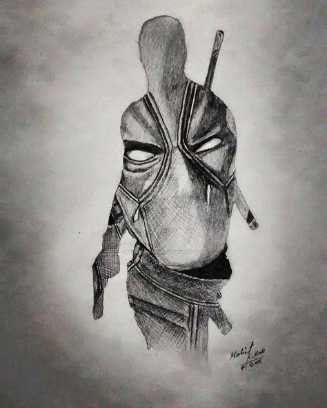 Deadpool made by MOHIT KUMAR RAO  by mohitkumarrao.deviantart.com on @DeviantArt