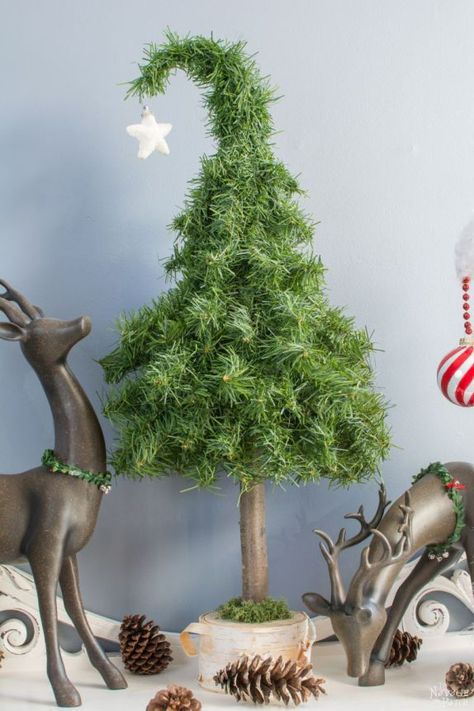 DIY Christmas decoration | Upcycled holiday decoration | Easy & budget friendly crafts | Whimsical Tabletop Christmas Trees | Repurposed & Upcycled #diy #Christmas #crafts | TheNavagePatch.com