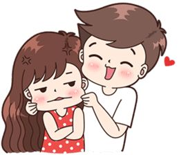 Boobib Cute Couples ( For Boy ) – LINE stickers | LINE STORE
