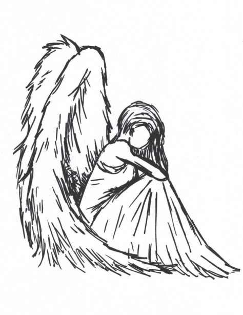 17 Drawings Of Angels Drawingwow Com Angel Drawing Angel Sketch Easy Pictures To Draw