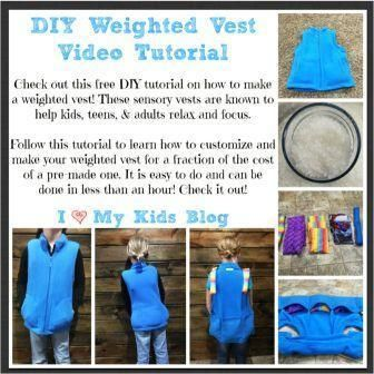 How To Make Your Own Sensory Weighted Vest Weighted Vest Love