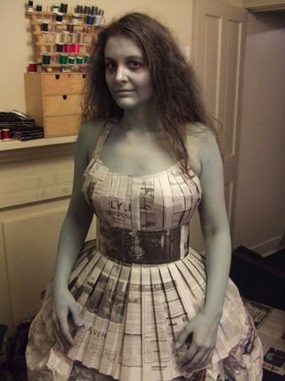 This Instructable will teach you how to make a dress out of newspaper using a sewing machine. It makes a great recycled Halloween costume or a very interesting party.