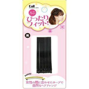 貝印 Kq3123 カーブヘアピン 黒 貝印 買い物 商品パッケージ