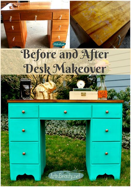 Bohemian Style Painted Desk Makeover Desk Makeover Desk Makeover Diy Painted Desk