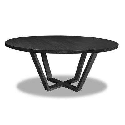Ivy Bronx Macarthur Solid Wood Dining Table Colour Cement Size 30 H X 54 W X 54 D In 2020 Round Dining Table South Cone Round Dining