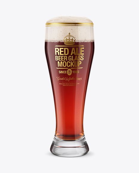 Download Weizen Glass With Red Ale Beer Psd Mockuptemplate In 2020 Mockup Free Psd Ale Beer Mockup Free Download