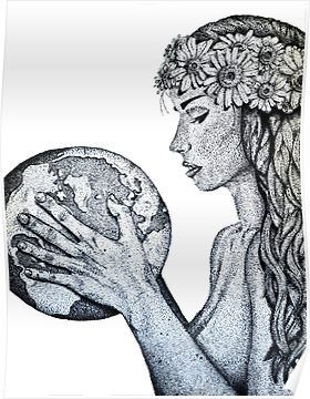Cool Mother Earth Simple Mother Nature Drawing