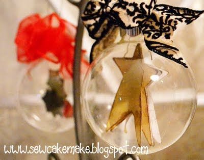 Clear bulb with star in it. Good Sunday School craft for my kids