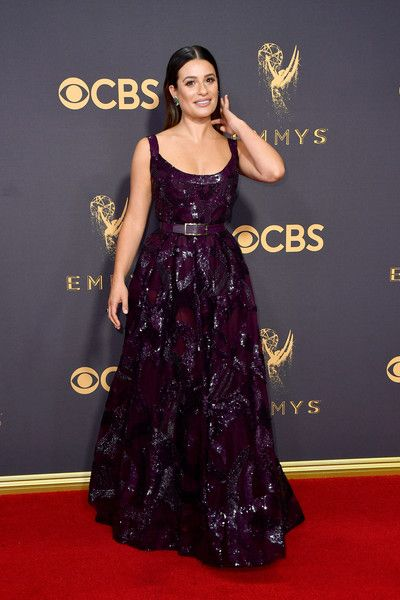 Actor Lea Michele attends the 69th Annual Primetime Emmy Awards at Microsoft Theater.