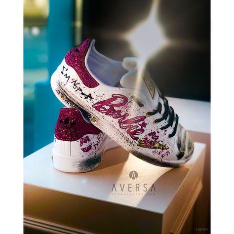 Adidas Stan Smith Neon Fucsia con borchie Aversa Shoes S.r.l.