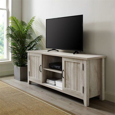 58 Modern Farmhouse Grooved Door Tv Stand White Oak Walmart Com Walmart Com In 2020 Oak Tv Stand Oak Furniture Living Room Farmhouse Tv Stand