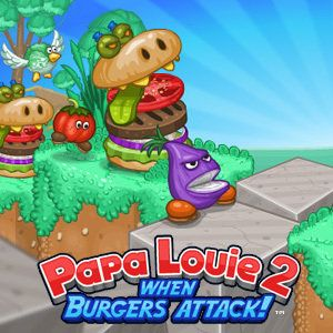 Play Papa Louie 2 On Kizi You Were At Papa Louie S Restaurant When The Mutated Burgers Attacked Explore The Platform Levels And Rescue Papa Louie Arch Enemy