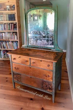 Farmhouse Dressing Table Antique Dresser With Original Locks