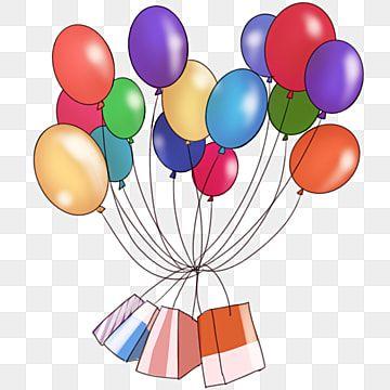 صورة بالون الكرتون العلامة التجارية للمستهلك احتفل بالونات ملونة احتفل صورة التوضيح Png وملف Psd للتحميل مجانا Balloon Cartoon Colourful Balloons Balloons