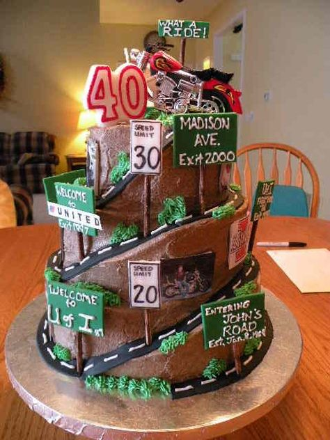 40 Biker Birthday Cakes That Will Make You Feel Better About Getting Old