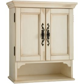 Estate By Rsi Vintage W X 28 In H X 7 75 In D Antiqued White Bathroom Wall Cabinet Tt5523 Bathroom Wall Cabinets Custom Bathroom Cabinets White Storage Cabinets