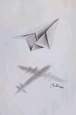 Ados Aviones De Papel Dibujo Aviones Para Dibujar Tatuajes De Aviones De Papel
