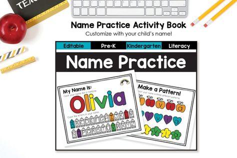 Customizable Name Practice for Pre-K-Kindergarten