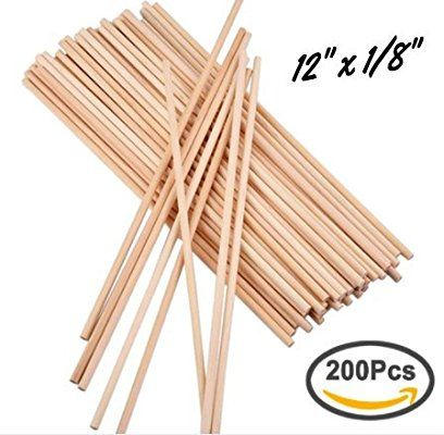 Amazon Com Wooden Dowel Rods 200 Pcs Craft Dowels 12 1 8 30cm 3mmo Thin Dowel Best Price Un Natural Wood Crafts Craft Stick Crafts Wood Crafts