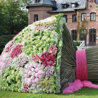 Mazzo Di Fiori Gigante.Un Grande Mazzo Di Fiori Splendidi Giardini Arte Per Giardini E
