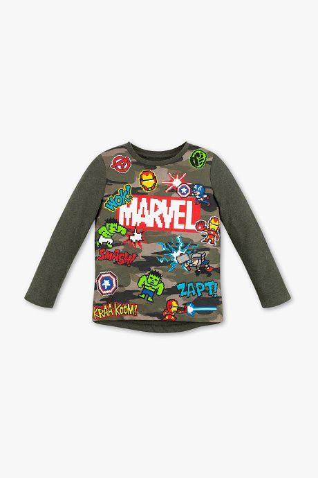Marvel x Gap Super Hero Kawaii Cute Toddler Boys Long sleeve Shirt Yellow