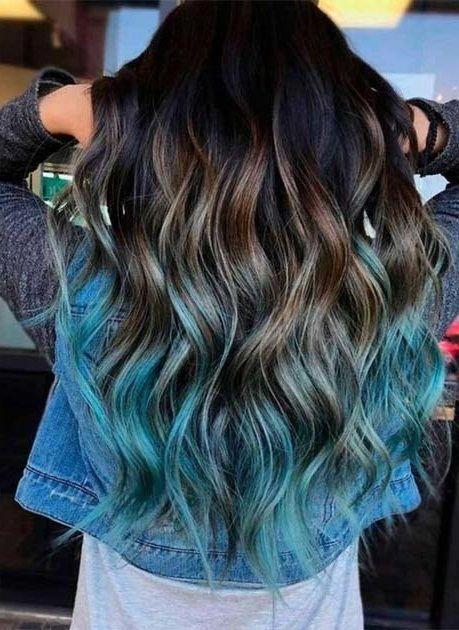 29 Blue Hair Color Ideas For Daring Women Hair Color Blue Long