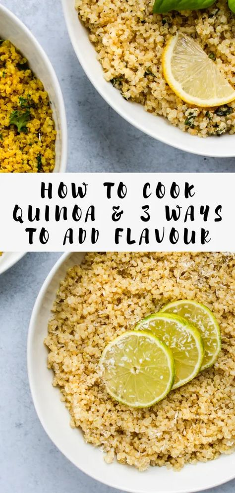 How To Cook Quinoa & 3 Recipes To Add Flavour - Walder Welln Quinoa Recipes Easy, Diet Recipes, Vegetarian Recipes, Cooking Recipes, Healthy Recipes, Delicious Recipes, Quinoa Dinner Recipes, Kale Recipes, Cooking Tips