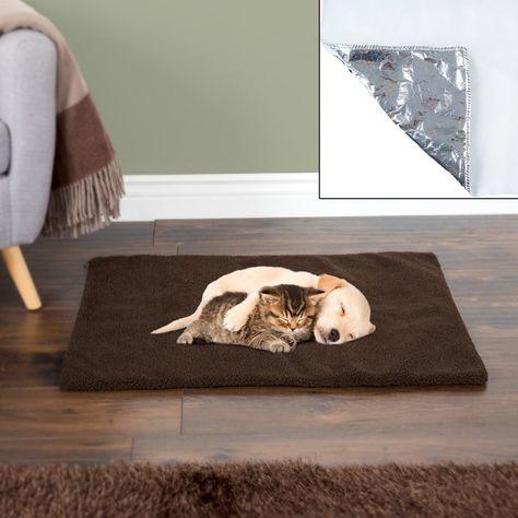 Petmaker Self Warming Thermal Dog and Cat Crate Pad - Chocolate - Small/Medium, Brown