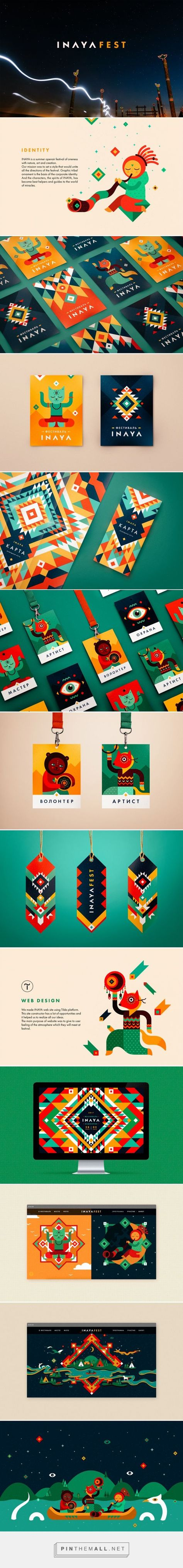 INAYA Festival identity on Behance... - a grouped images picture